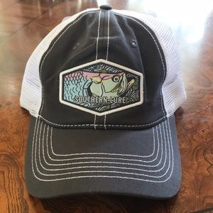 Southern Lure Hat Bass Patch NWT Gray